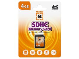Mueller SDHC Card 4GB Cl 4