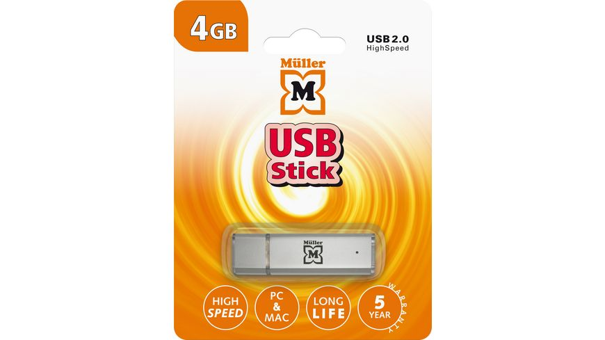 Mueller USB Stick 4GB USB 2 0