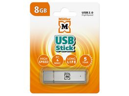 Mueller USB Stick 8GB USB 2 0