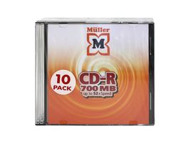 MUeLLER CD R 700MB 10er Slimcase