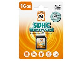 Mueller SDHC Card 16GB Cl 10