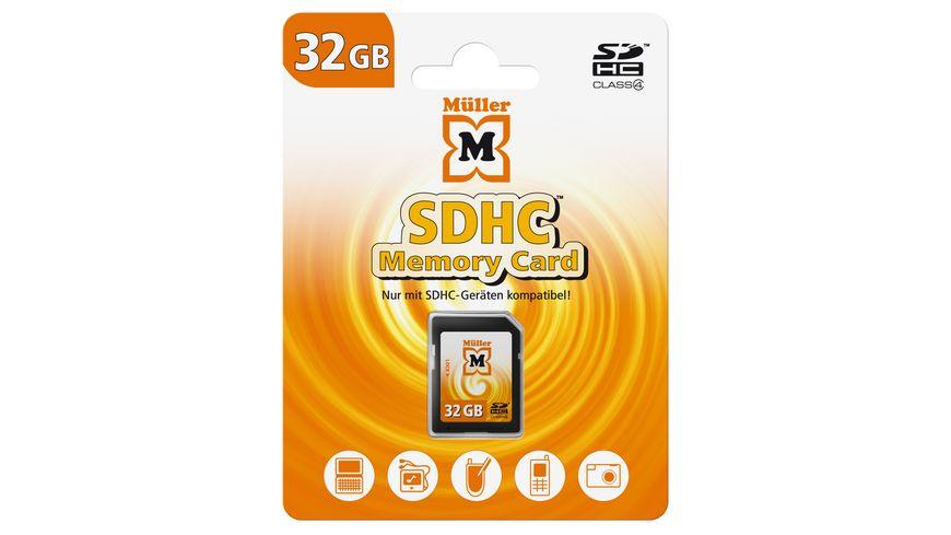 Mueller SDHC Card 32GB Cl 4