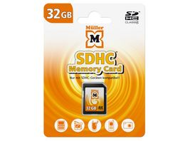 Mueller SDHC Card 32GB Cl 4