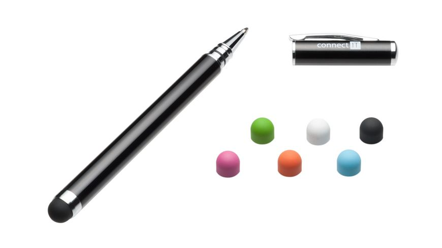 Connect IT Stylus Ball Point Pen 8mm Schwarz