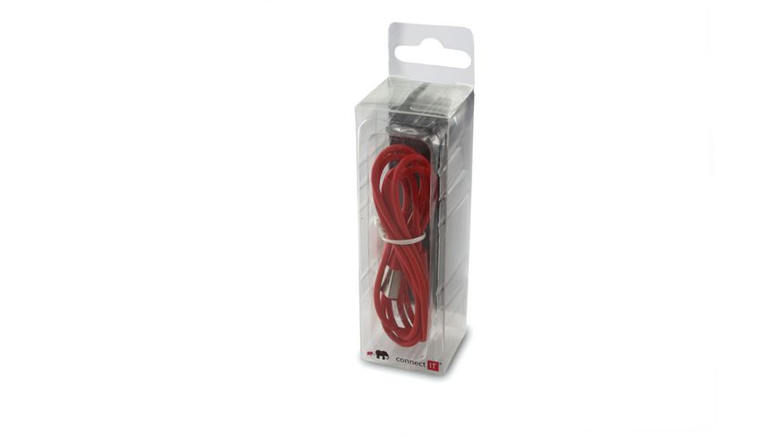 Connect IT Kabel Colour Line Lightning Lade Sync Kabel Rot