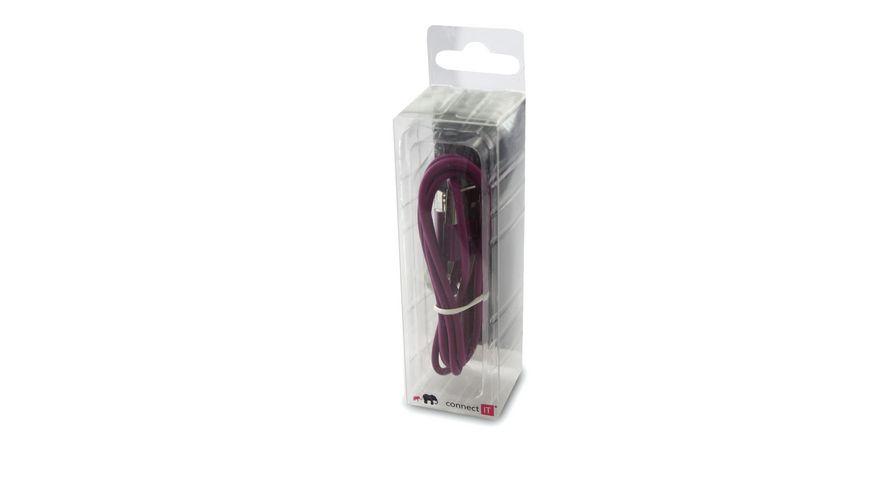 Connect IT Kabel Colour Line Lightning Lade Sync Kabel Lila