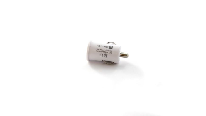 Connect IT KFZ Ladegeraet Colour Line USB Adapter 2 1A Weiss