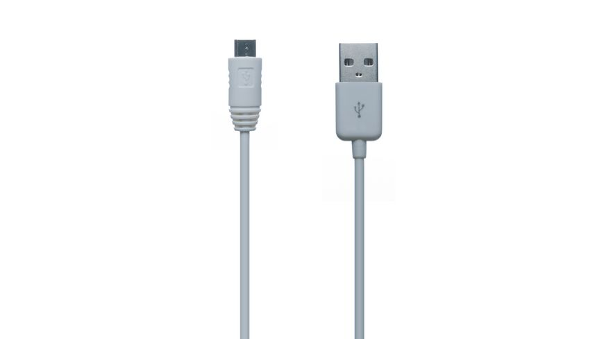 Connect IT Kabel Micro USB to USB Data Cable 1m Weiss z B Samsung Sony Nokia HTC