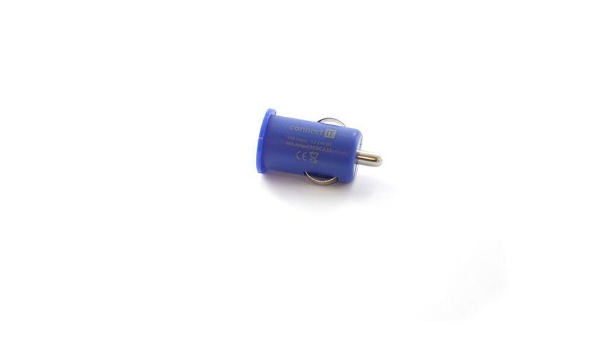 Connect IT KFZ Ladegeraet Colour Line USB Adapter 2 1A Blau