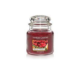 YANKEE CANDLE Mittlere Duftkerze im Glas Black Cherry