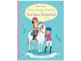 Buch Usborne Verlag Mein Anziehpuppen Stickerbuch Auf dem Reiterhof