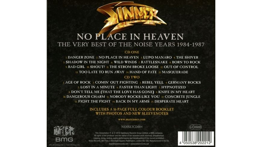 No Place In Heaven Very Best Of The Noise Years
