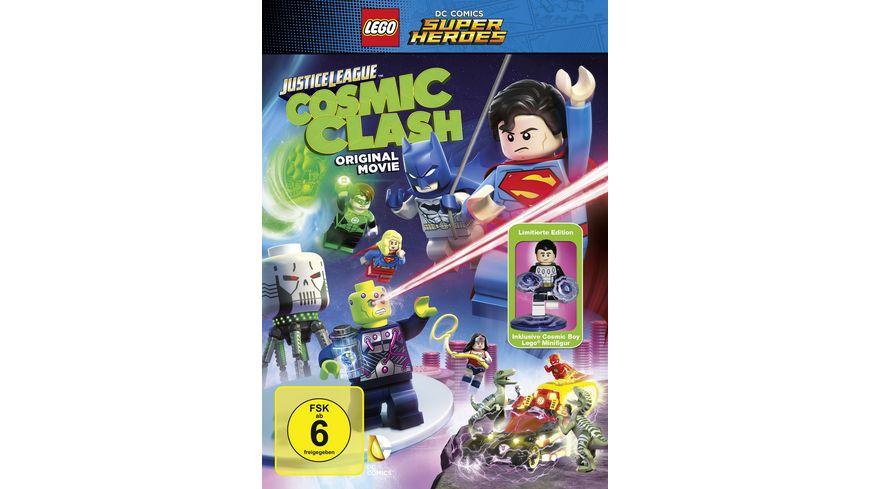 LEGO DC Comics Super Heroes Justice League Cosmic Clash Limitierte Edition inkl Cosmic Boy Lego Minifigur DVD