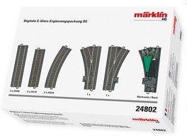 Maerklin 24802 Digitale C Gleis Ergaenzungspackung D2 H0