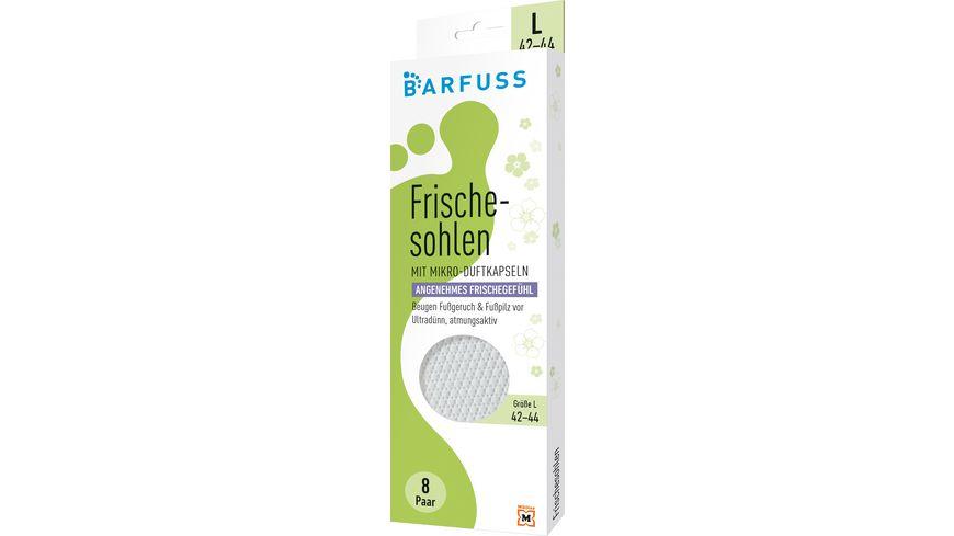 BARFUSS Frischesohlen L Gr 42 44 Weiss