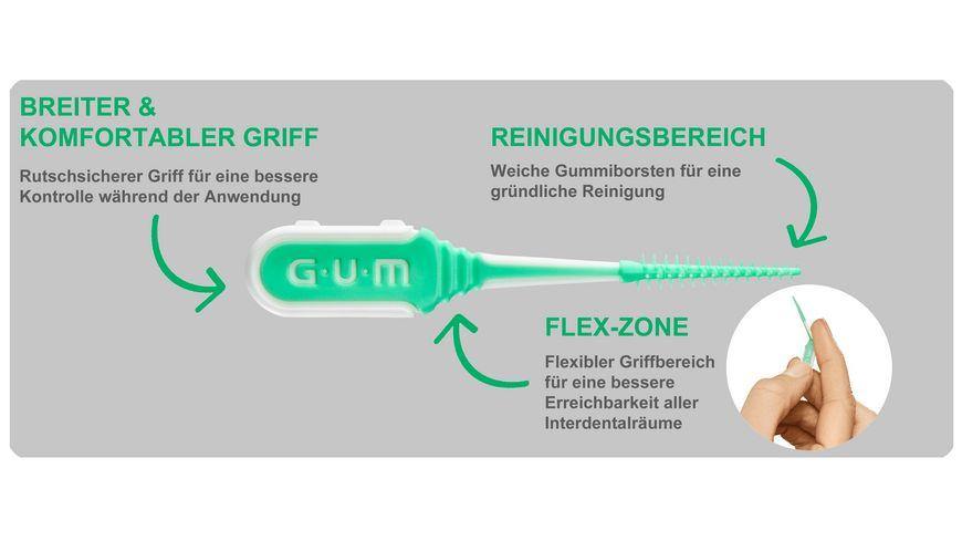 GUM SOFT PICKS Comfort Flex Regular mit Reiseetui
