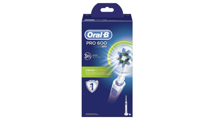 Oral B elektrische Zahnbuerste Pro 600 Cross Action