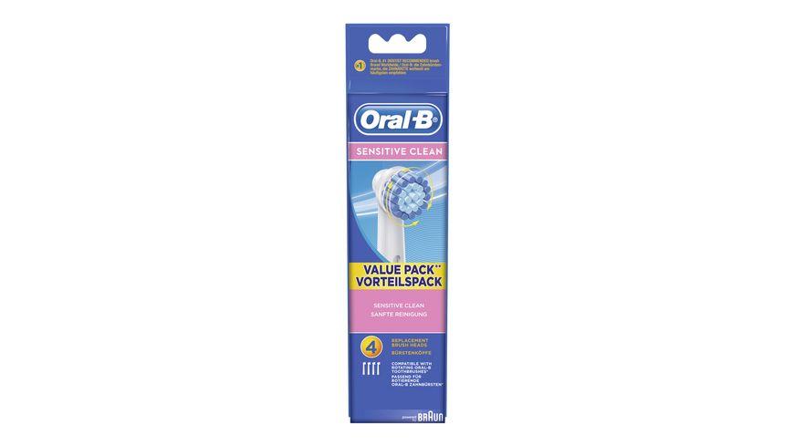 Oral B Aufsteckbuersten Sensitive Clean 4 Stueck