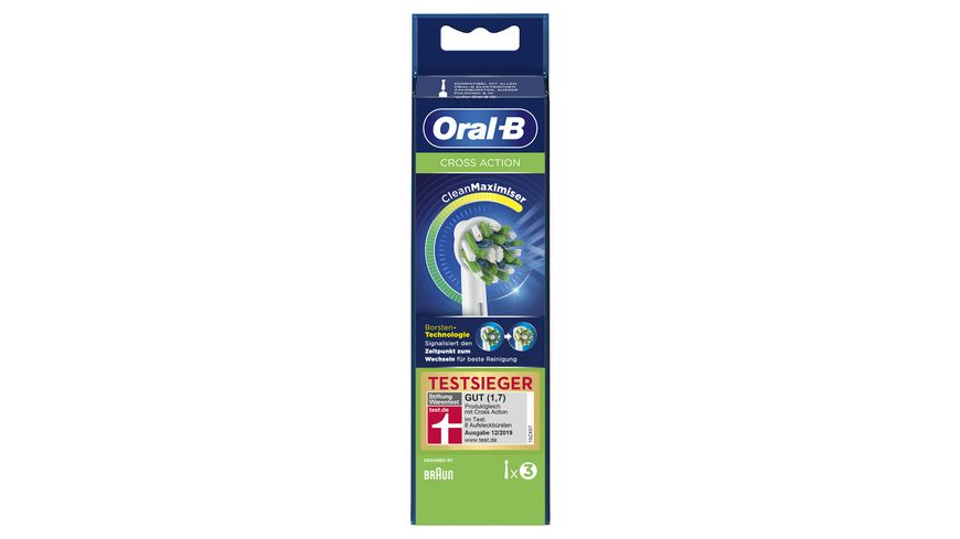 Oral B Aufsteckbuersten Cross Action 3 Stueck