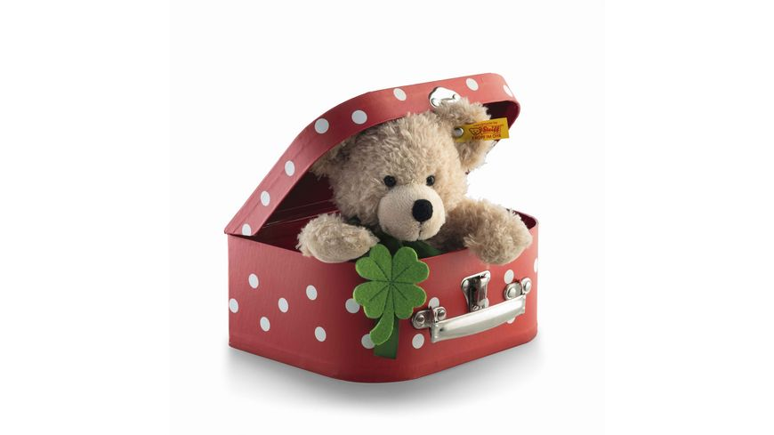 Steiff Teddybaeren Teddybaeren fuer Kinder Fynn Teddybaer im Koffer beige 24cm