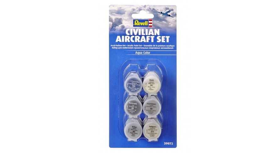 Revell 39072 Farben Set Zivilflugzeuge