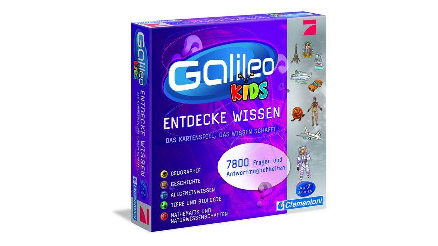Clementoni Galileo Kids Das grosse Wissens Quiz