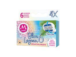 M LADY Ersatzklingen Blue Lagoon 6 4 Stueck