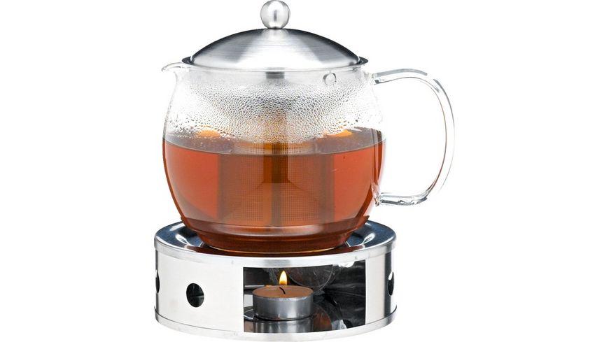 Teekanne mit Filtereinsatz aus Edelstahl