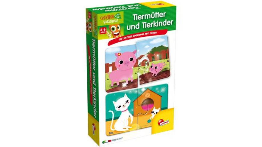 Carotina Lernpuzzle Tiermuetter und Tierkinder
