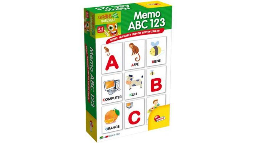 Carotina Lernspiel Memo ABC 123