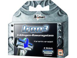 M man Iron 3 Ersatz Klingen 4 Stueck