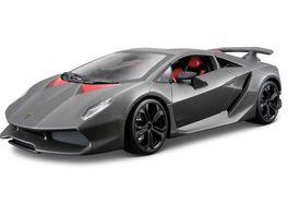 Bburago 1 24 Lamborghini Sesto Elemento grau metallic