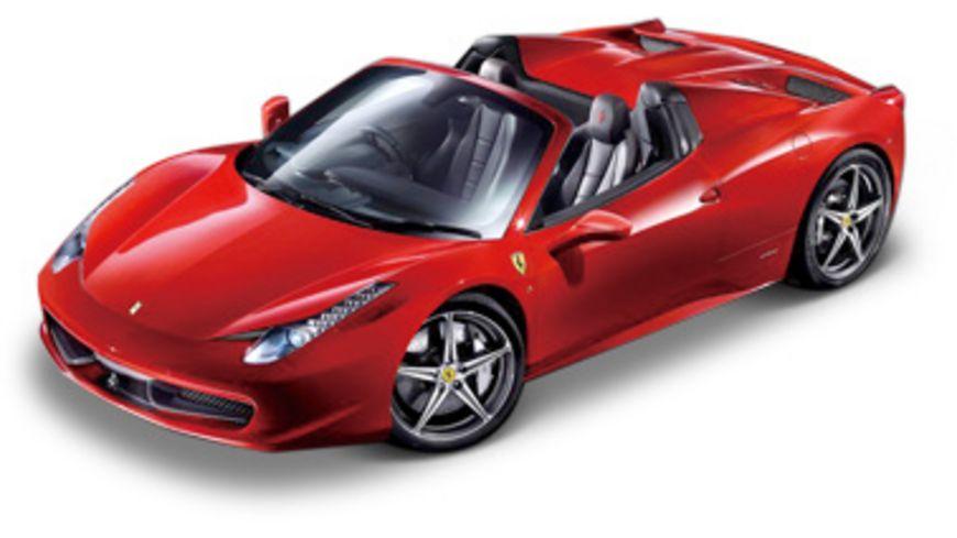 Bburago Ferrari 458 Spider rot 1 24