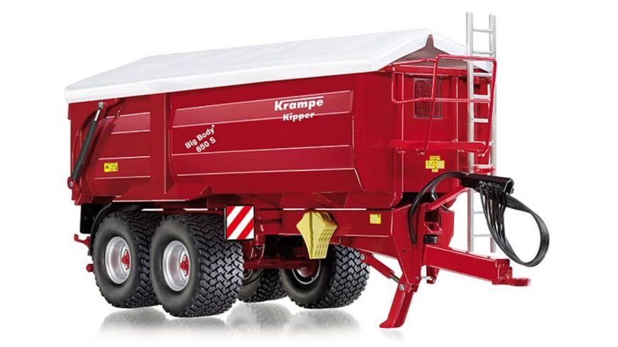 WIKING 077335 Krampe Big Body 650 S Hinter Seitenkipper mit Rollplane