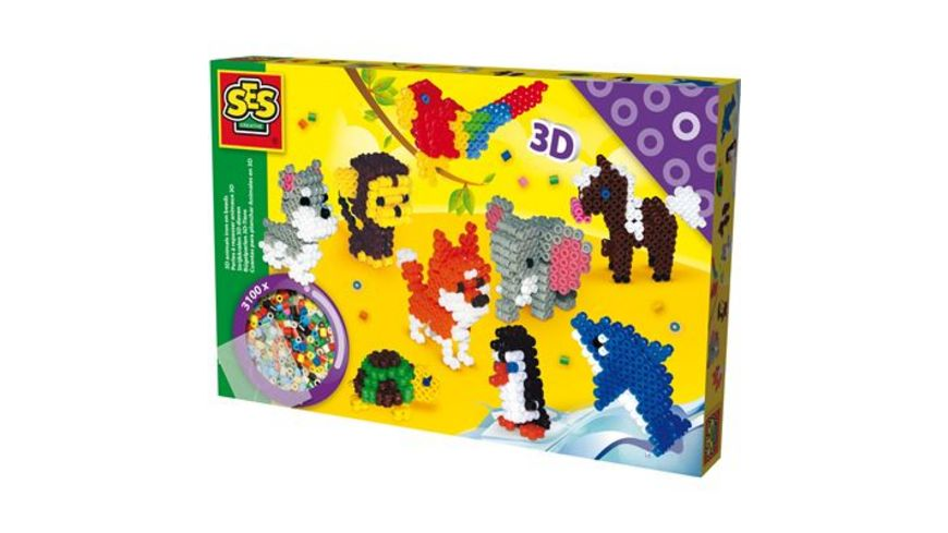 SES Creative Buegelperlen 3 D Tiere