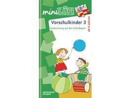 miniLUeK Kindergarten Vorschule Vorschulkinder 3 Vorbereitung auf den Schulbeginn fuer Kinder von 5 7 Jahren