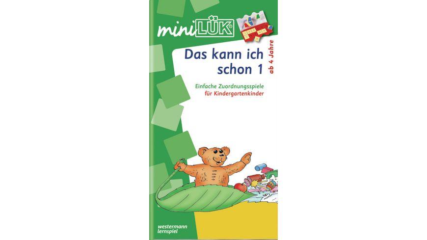 miniLUeK Kindergarten Vorschule Das kann ich schon 1 Einfache Zuordnungsspiele fuer Kindergartenkinder