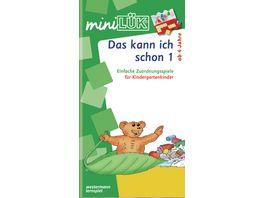 Buch Westermann miniLUeK Kindergarten Vorschule Das kann ich schon 1 Einfache Zuordnungsspiele fuer Kindergartenkinder