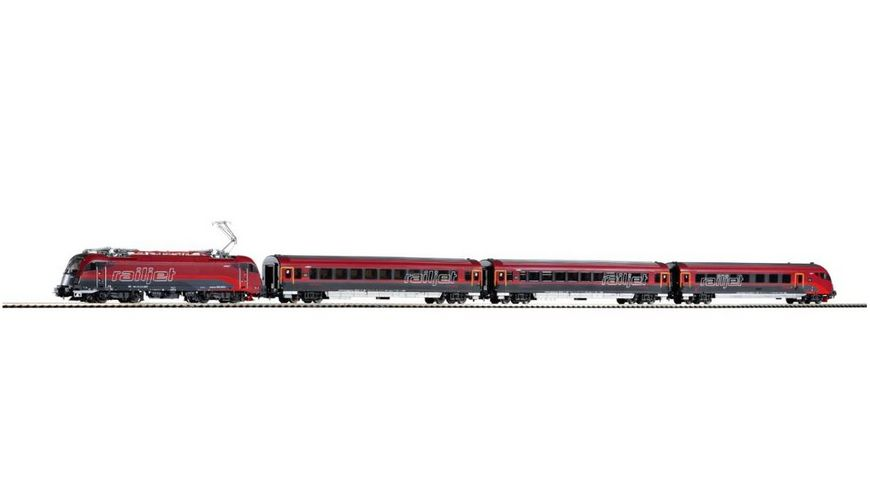 PIKO 58131 Zugset Railjet Rh 1216 3 Wagen OeBB Gleichstrom