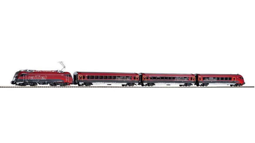 PIKO 58132 Zugset Railjet Rh 1216 3 Wagen OeBB Wechselstrom