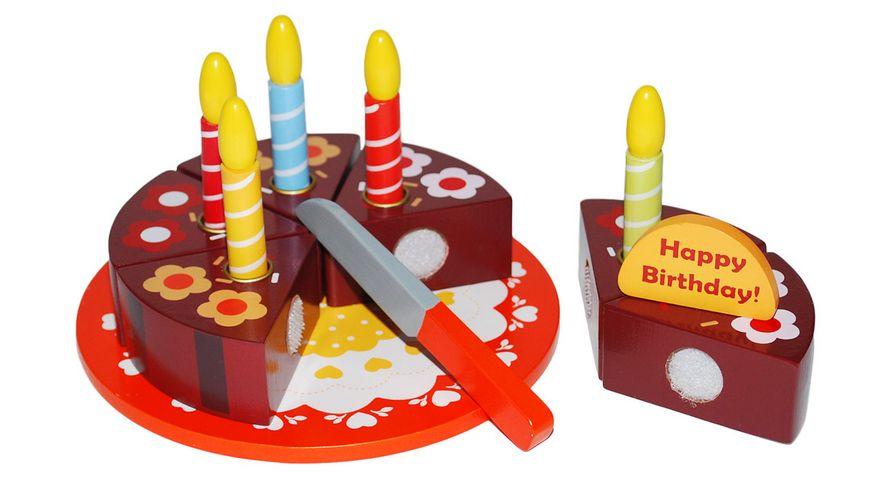 Tanner Geburtstagstorte aus Holz mit Holzmesser zum Schneiden