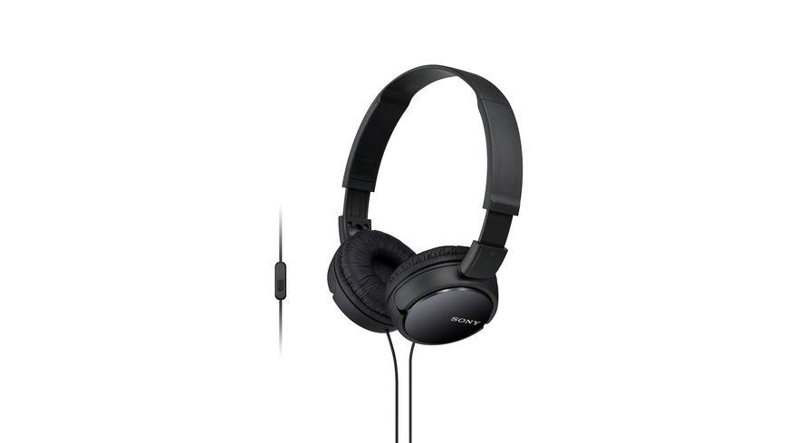 Sony On Ear Faltbarer Einstiegskopfhoerer mit Headsetfunktion schwarz