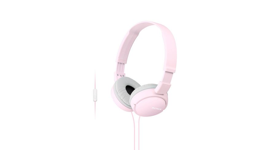 Sony On Ear Faltbarer Einstiegskopfhoerer mit Headsetfunktion Pink
