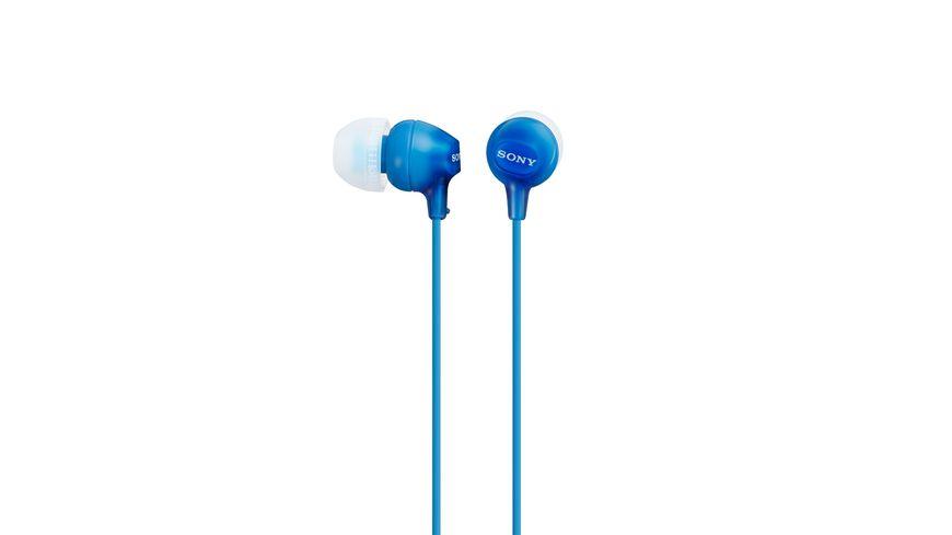 Sony In Ohr Kopfhoerer blau Einstiegsserie hochwertig