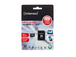 Intenso Micro SDHC Karte 32 GB Class 10 UHS I