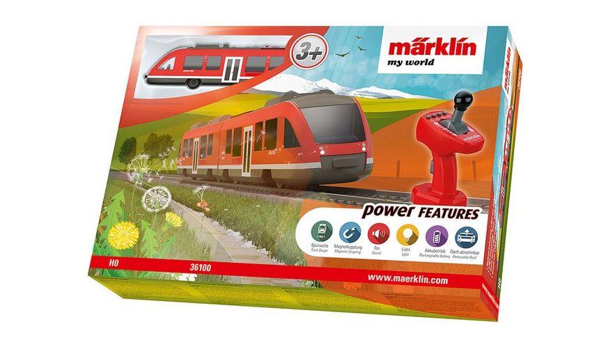 Maerklin 36100 Maerklin my world Nahverkehrszug LINT mit Akku H0