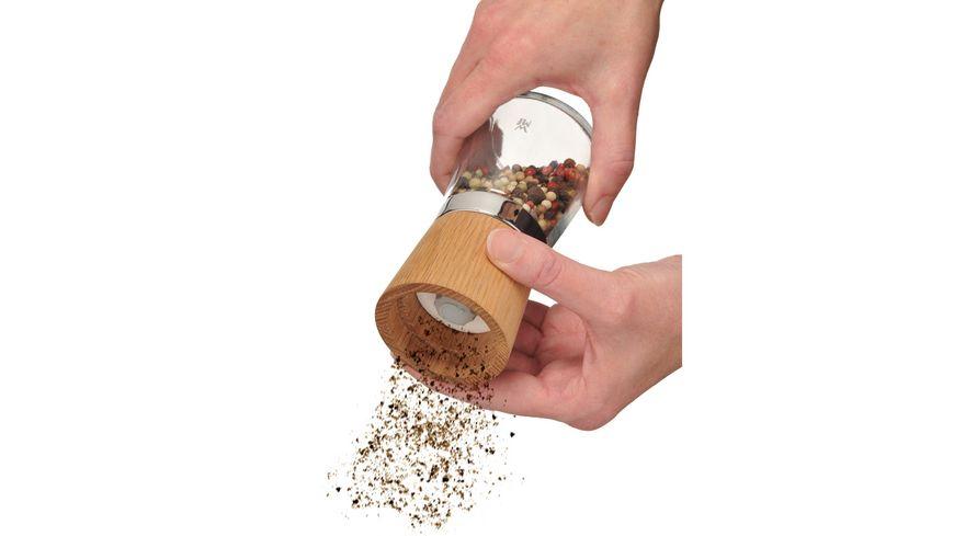 WMF Salz Pfeffermuehle Holz Glas Ceramill Nature