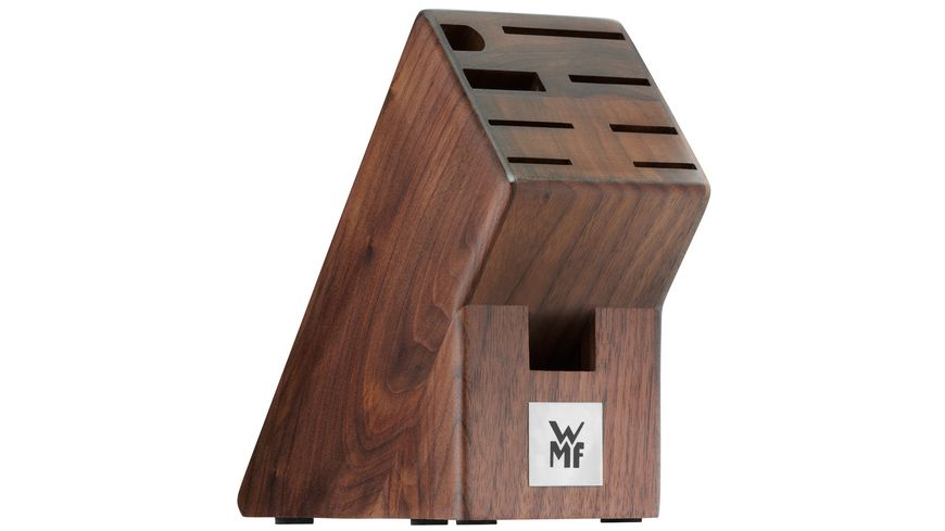WMF Messerblock Walnuss dunkel unbestueckt