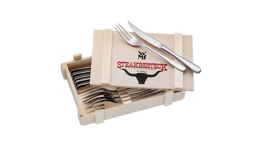 WMF Steakbesteck 12 teilig in Holzkiste