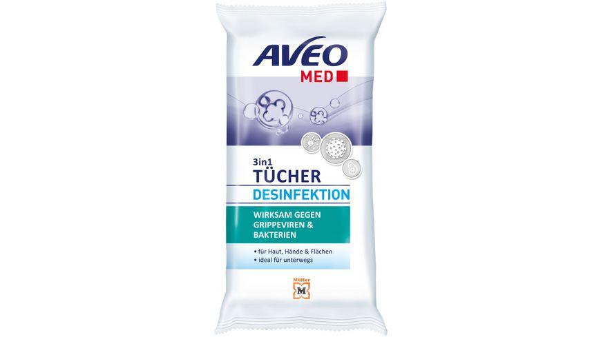 AVEO MED 3in1 Desinfektionstücher